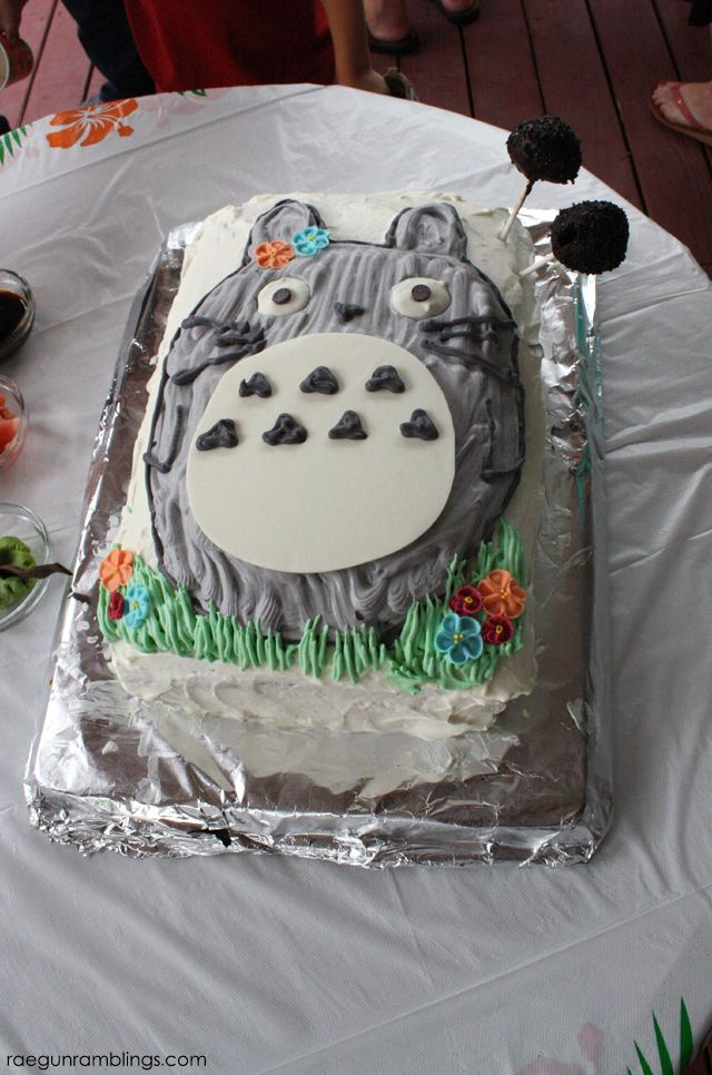 Mermaid Totoro Party And Dress Totoro Birthday Cakes And Cake