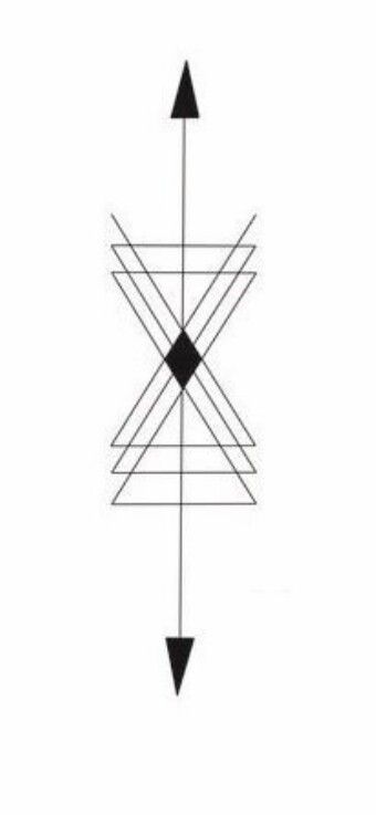 géométrique tatoo sablier | tattoo | pinterest | tattoos, hourglass