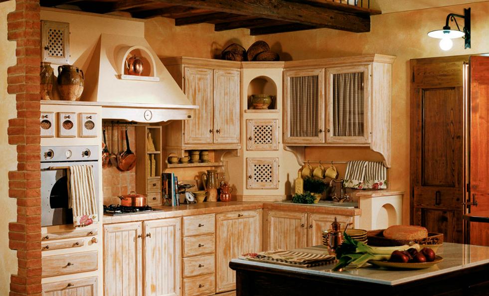 CUCINA RUSTICA IN LEGNO CHIARISSIMO - Arredamento Shabby   Kitchen ...