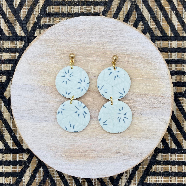 Blue Skies Clay Earrings