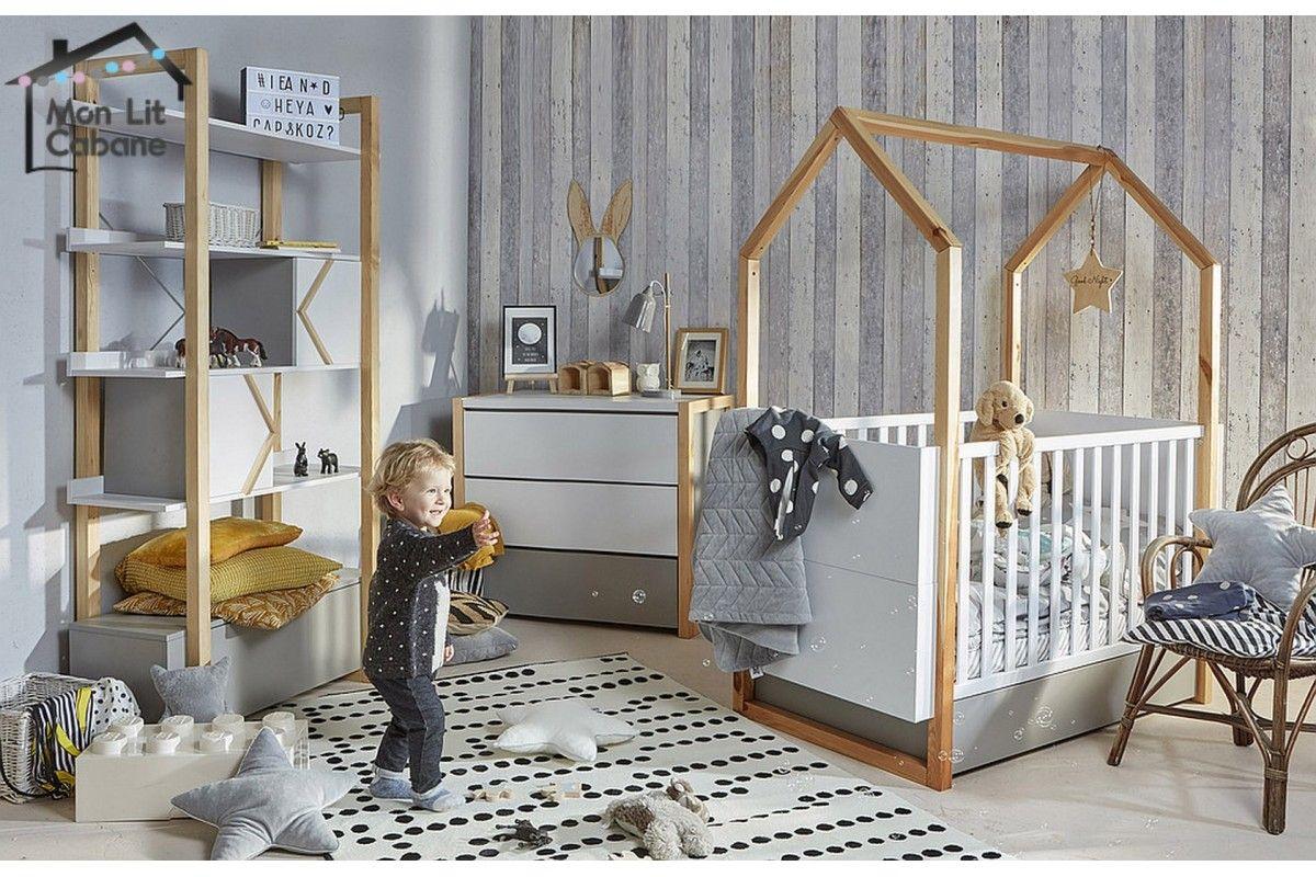 Lit Cabane Bebe Evolutif Mia Monlitcabane Idee Deco Chambre