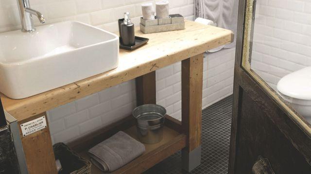 meuble salle de bain bois diy