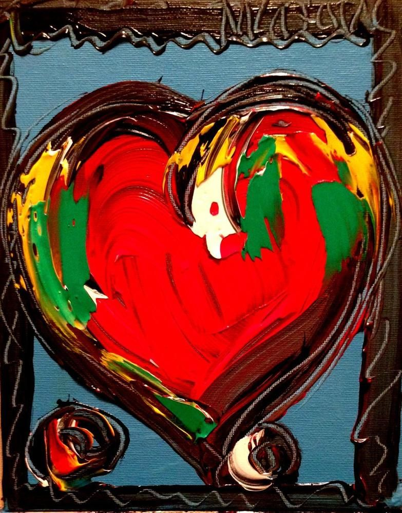 heart wall art canvas