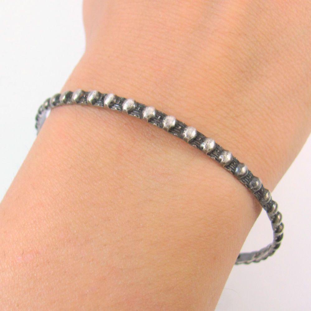 Lovely Vintage DANECRAFT Sterling Silver Bangle Bracelet │RS T