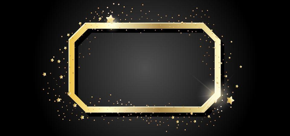 Rectangular Golden Frame Frame Clipart Flower Background Wallpaper Frame