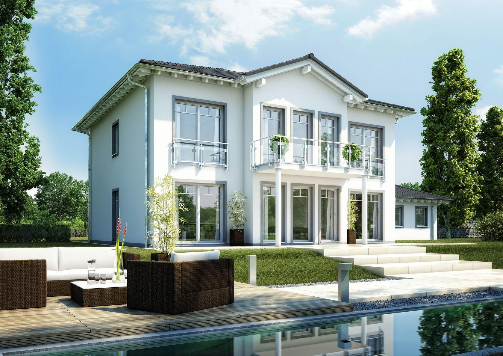 Stadtvilla karat von kern haus wohnerlebnis auf ber 200 for Stadtvilla modern