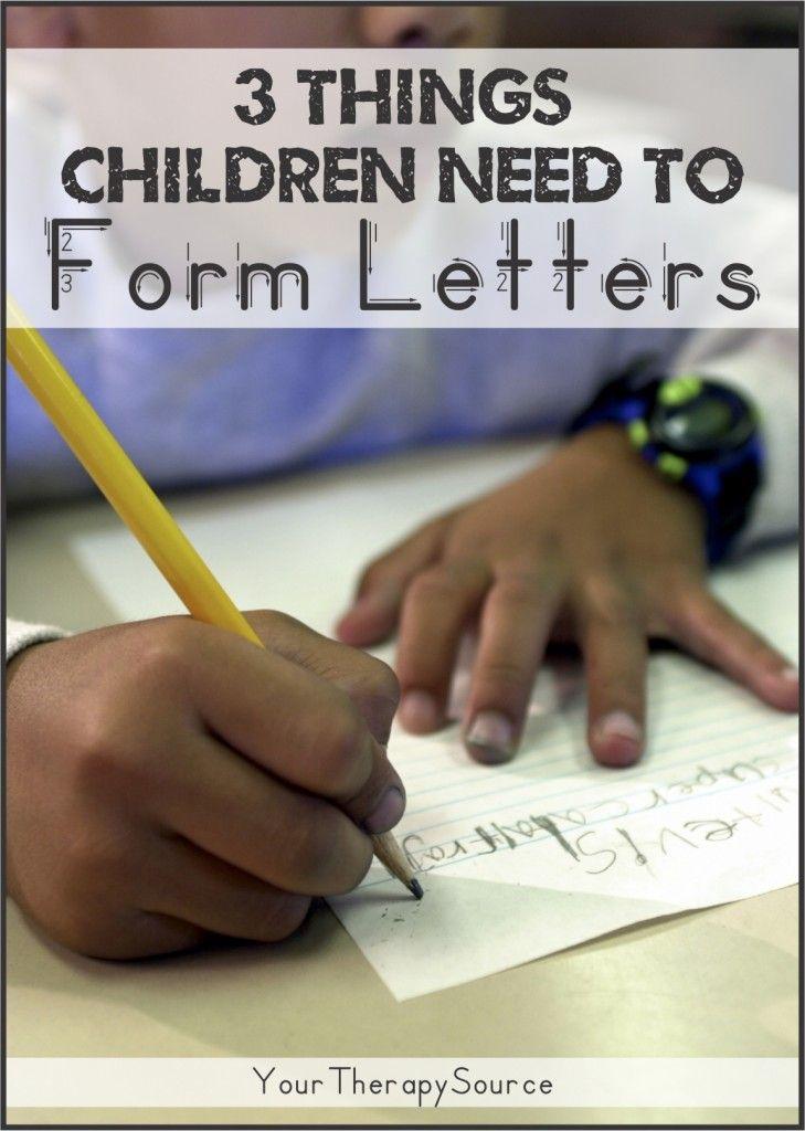 3 Things Children Need For Proper Letter