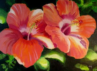 Hibiscus Experiments Sold Flower Painting Hibiscus Watercolor Disney