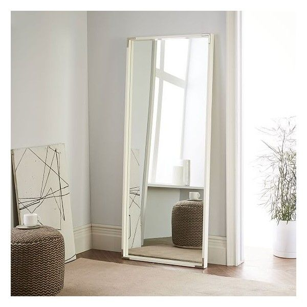 West Elm Malone Campaign Floor Mirror, White Lacquer/Polished Nickel ...