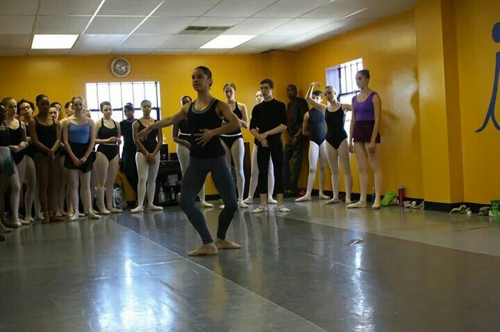Misty Copeland teaching class during our 5 year anniversary!