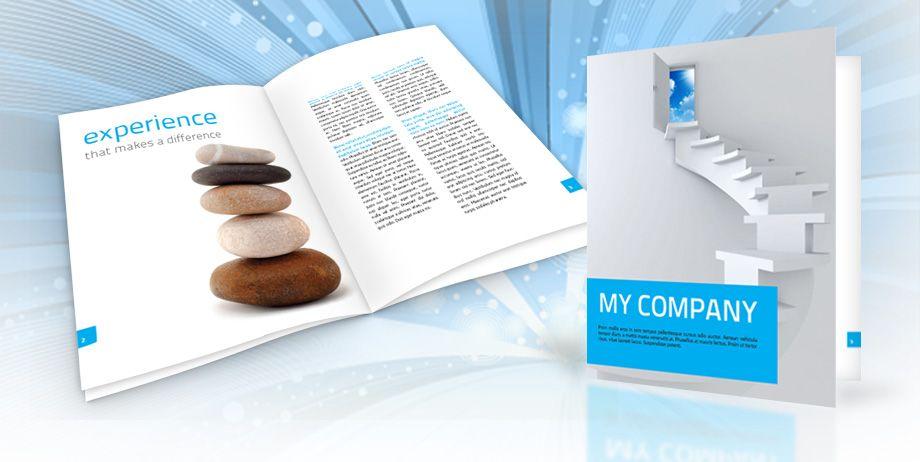 Very clean and elegant corporate brochure template Minimalistic – Corporate Brochure Template