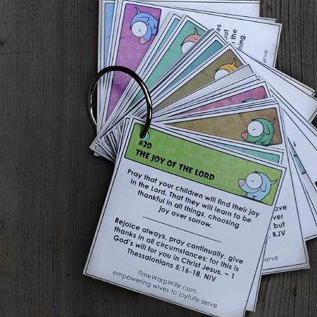 Free Printable Prayer Cards - 31 Prayers for a parent.