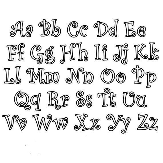Curlz Font Applique Embroidery/ Walt Disney Font embroidery