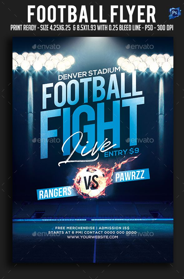 Football Flyer Pinterest Flyer template, Template and Party flyer