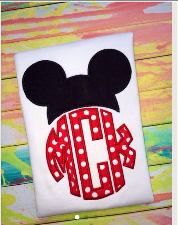 Monogramed Mickey Mouse Shirt / Disney Trip / Boys/ by SWDdesigns