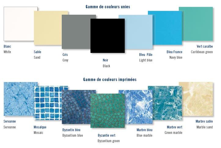 Comment choisir le liner de impressionnant couleur eau - Comment recuperer eau trouble piscine ...