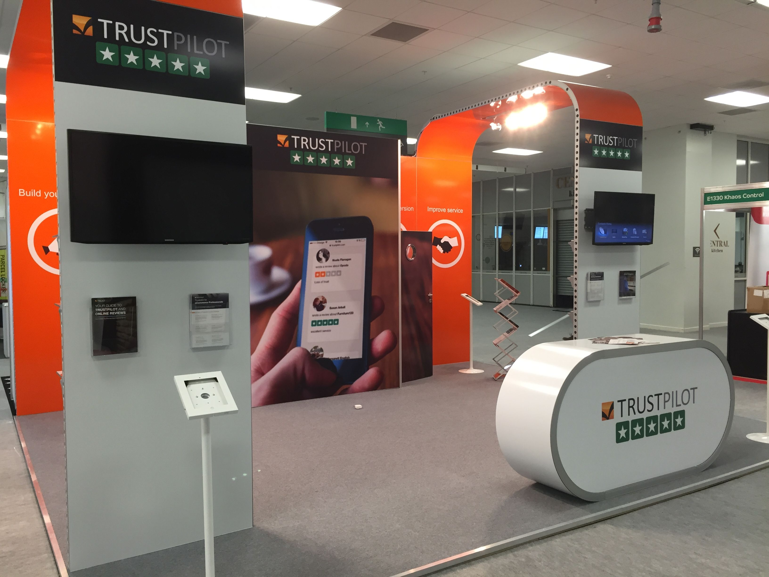 Exhibition Stand Quotation : Vision exhibition stand we designed for trustpilot