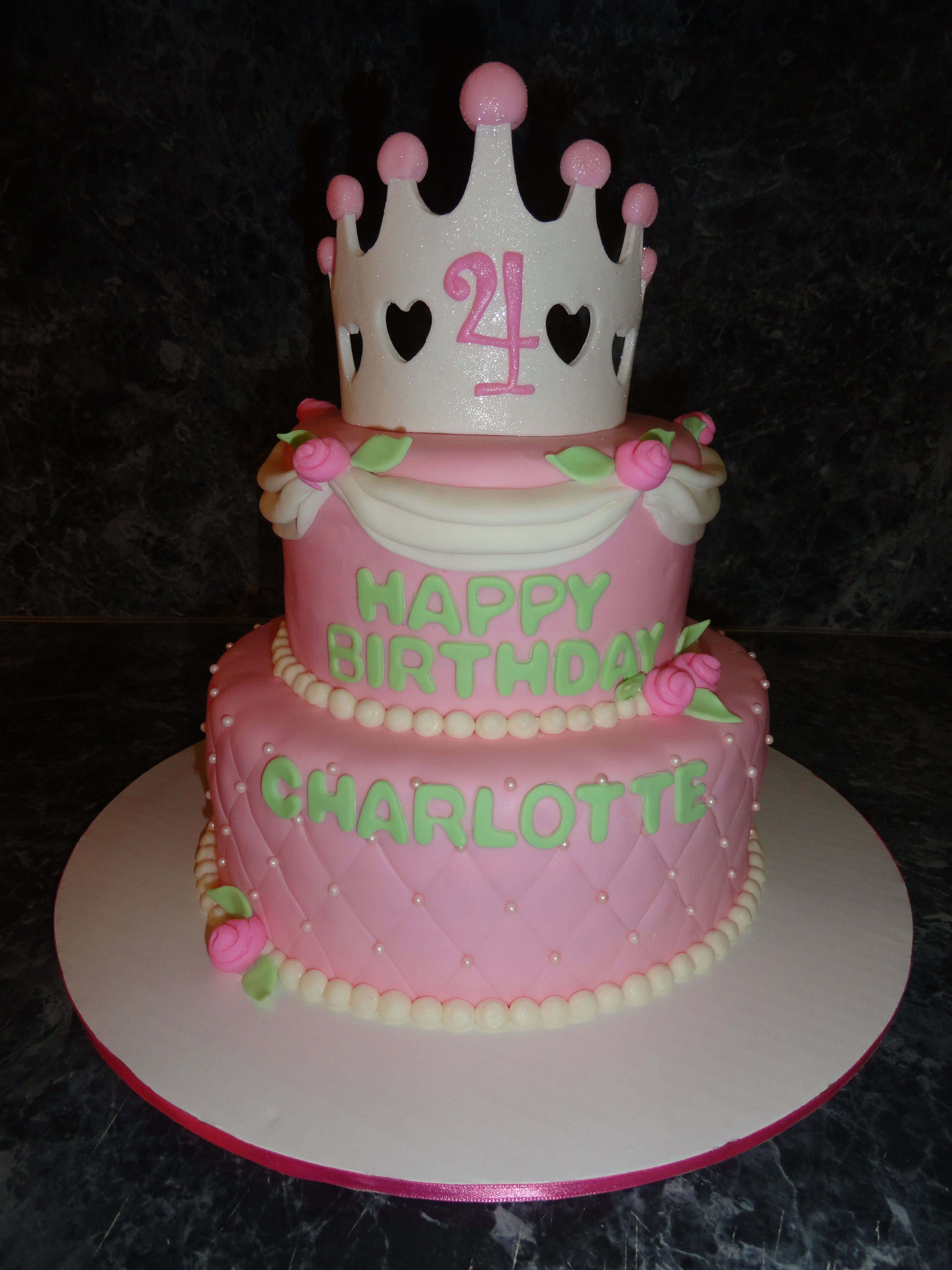 Childrens Birthday Cakes Princess birthday cake Strawberry cake