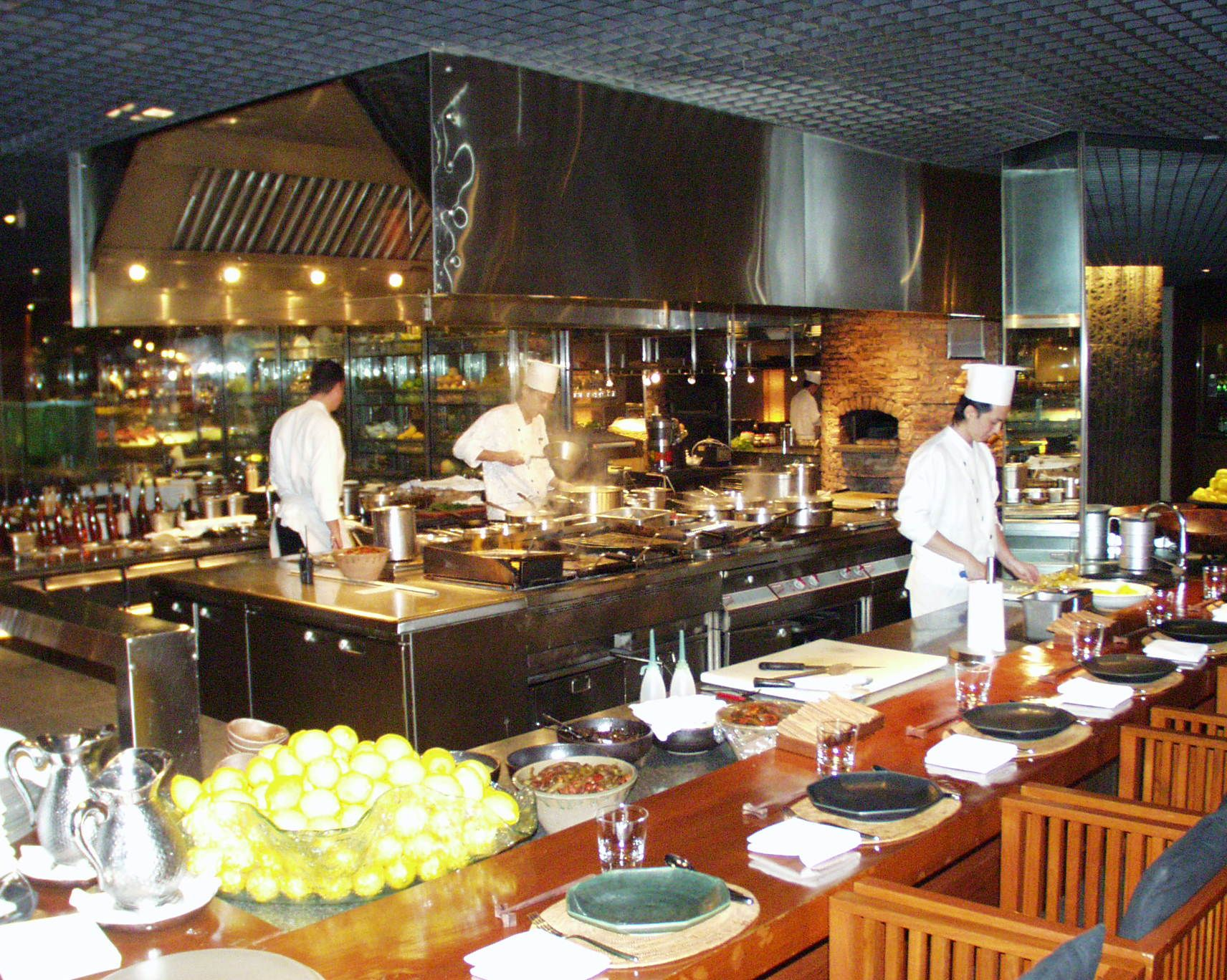 open restaurant kitchen designs commercial open kitchen open kitchen w bar at prep area - Restaurant Open Kitchen Design