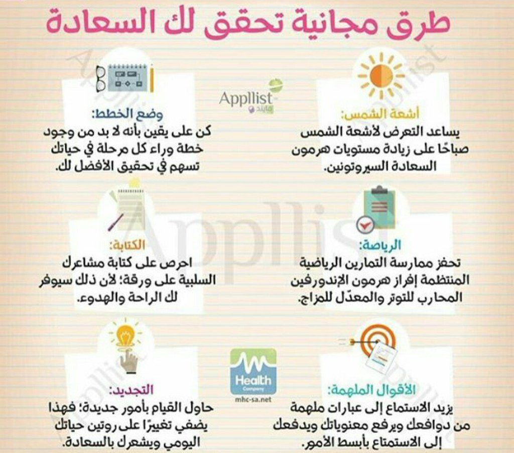 مبدعات Mobde3at Tips To Be Happy Life Motivation Positive Notes