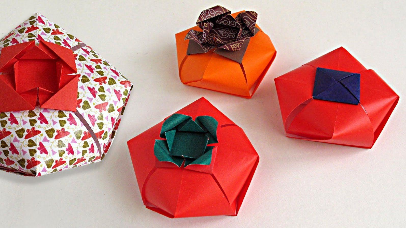 Origami Tomato Box Caja Tomate