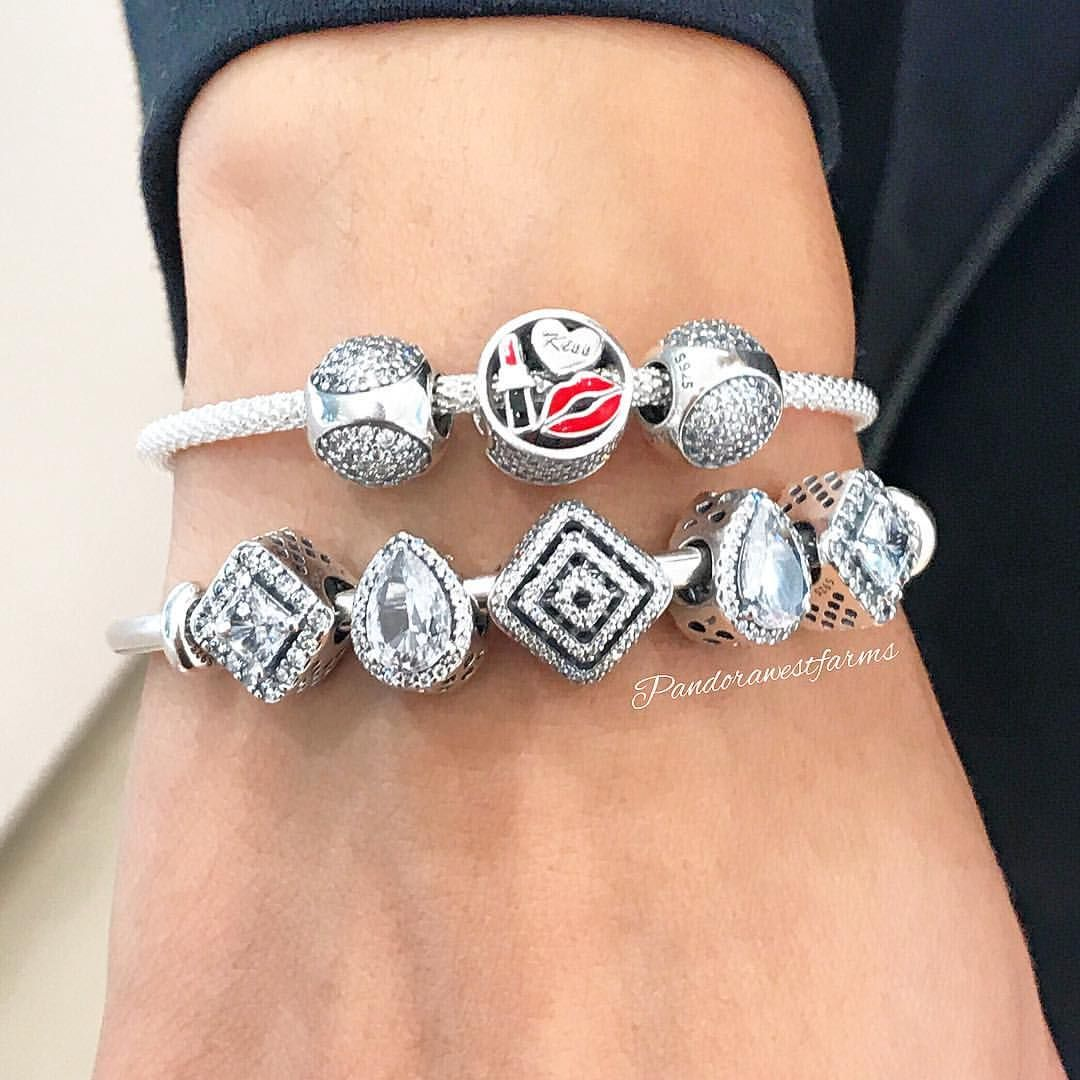 738191a4cdecc7 The #new Sterling Silver Mesh Bracelet can be worn with or without charms  as desired, and is great for stacking!✨ #pandorastyle #pandorawestfarms # pandora ...