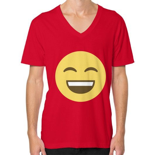 Smiling Emoji V-Neck for Men