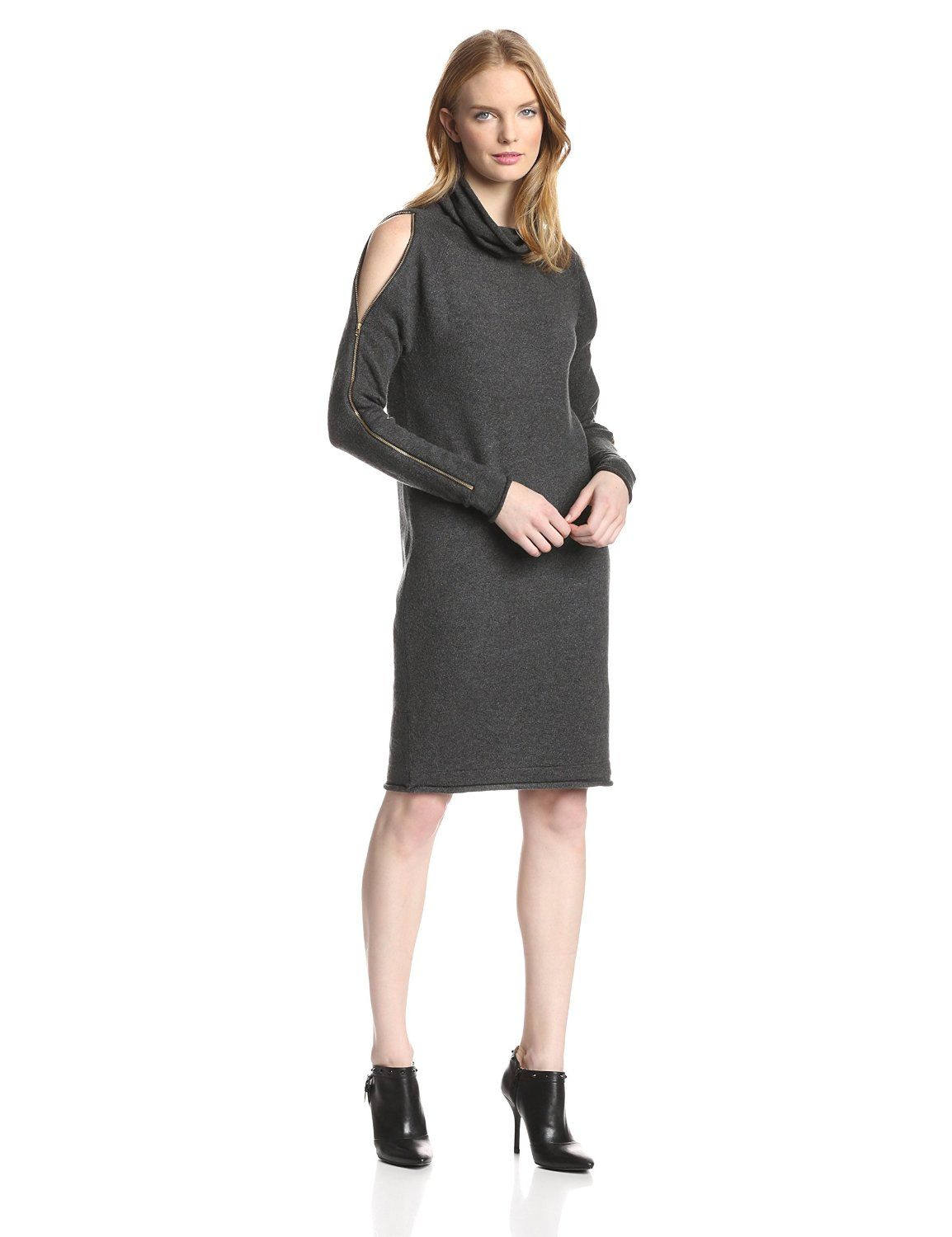 886ccaf766 Autumn Vhari Cold Shoulder Cowlneck Sweater Dress by French Connection