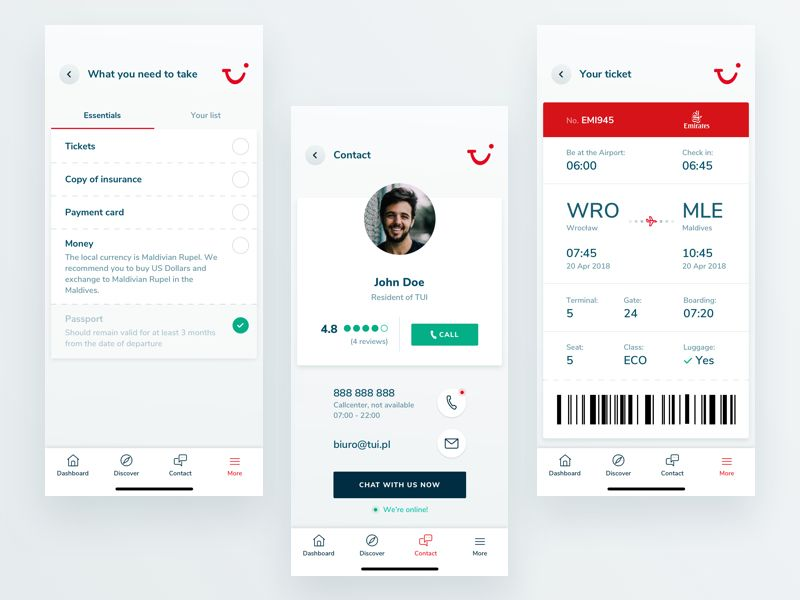 Tui Holiday Concept App Other Features App App Design Mobile App Design