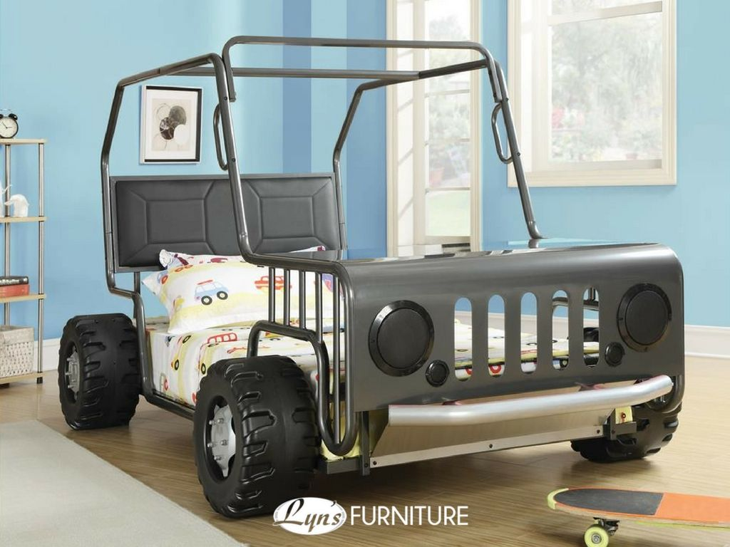Black And Nickel Off Road Racer Jeep Collection Finish Children S Twin Bed Frame Set From Ambping At