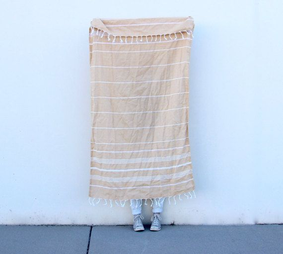There are so many great uses for these Turkish towels! They are light, absorbent, and soft. They are great for traveling & drying off, but can also be