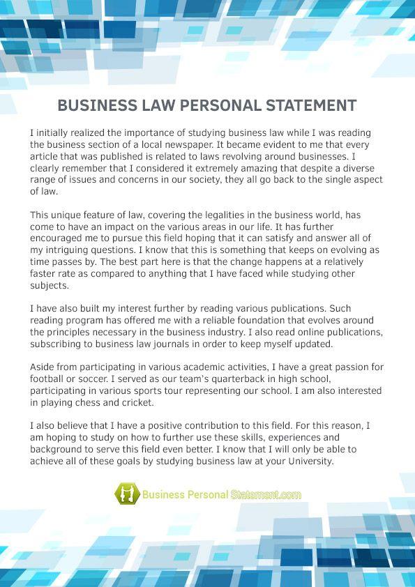Http Www Businesspersonalstatement Com Personal Statement Busines Management Service Bu Example American University Law