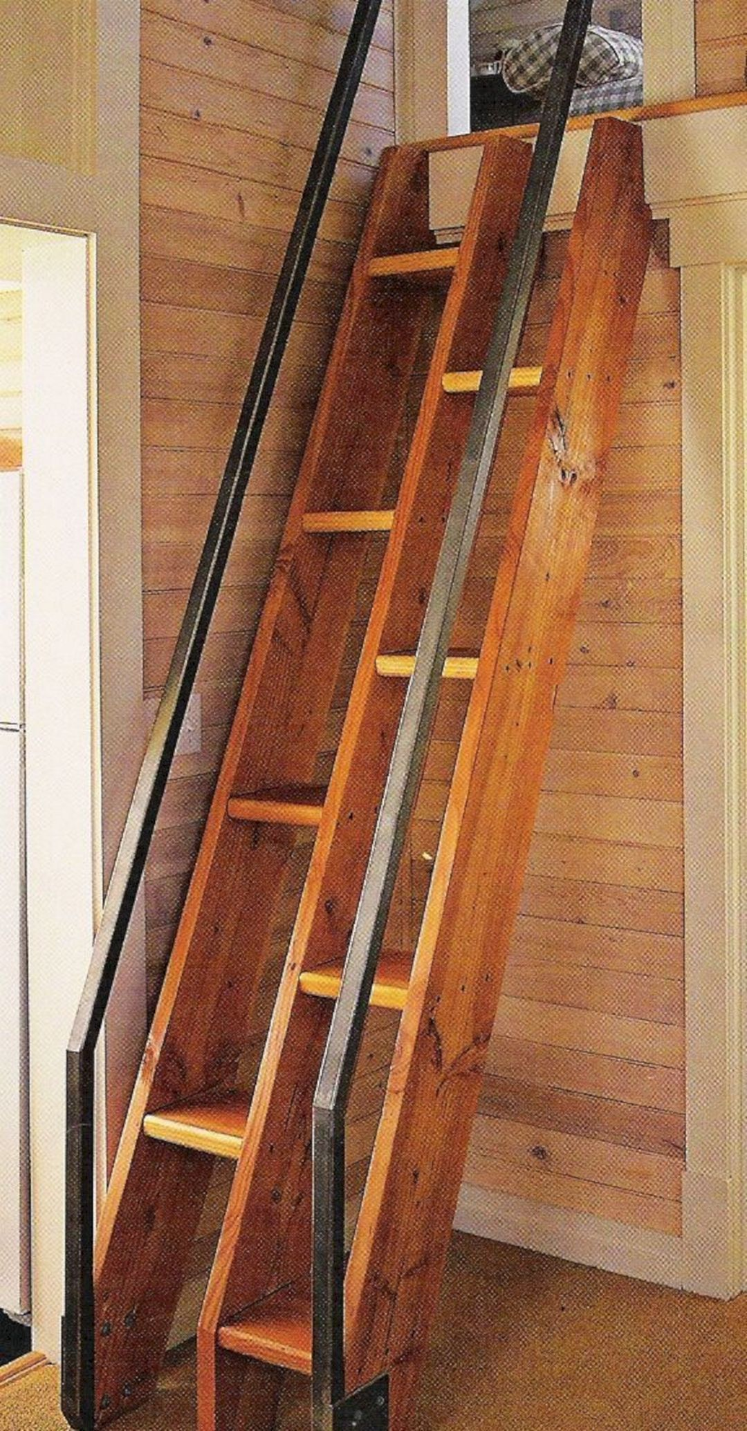 10 Best Ladder Design Inspirations For Beautiful Tiny Home Tinyhome Many People Assume A Small House Will Only Cause Problems Because It Ce Tiny House Stairs House Stairs Tiny House Loft