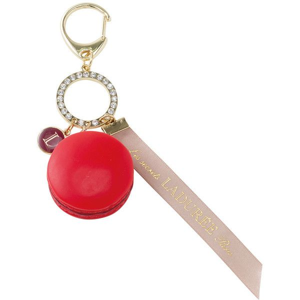 Ladurée Macaron Bag Charm - Cerise - Limited Edition (€42) ❤ liked on Polyvore featuring pink