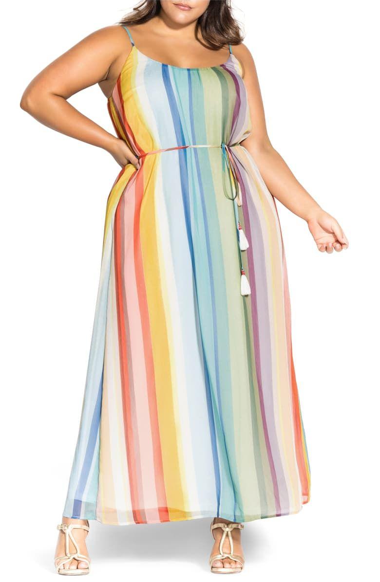 City Chic Gelato Stripe Maxi Dress Plus Size Nordstrom Striped Maxi Dresses Fashion Clothes Women City Chic [ 1196 x 780 Pixel ]