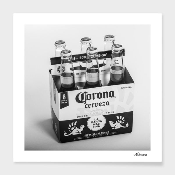 discover corona 6 pack in b w numbered edition fine art print by