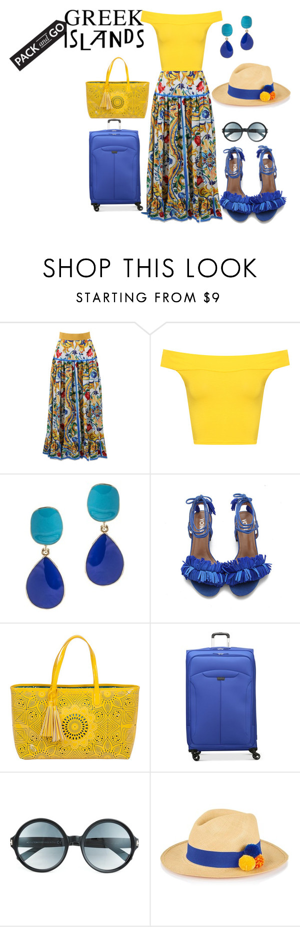 """#packandgo  #greekislands"" by giulia-sicilia ❤ liked on Polyvore featuring Dolce&Gabbana, WearAll, Kenneth Jay Lane, BUCO, Ricardo, Tom Ford, Prymal, Packandgo and greekislands"