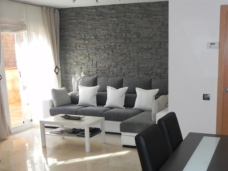 revestimiento de pared con paneles modelo pizarra gris. Black Bedroom Furniture Sets. Home Design Ideas
