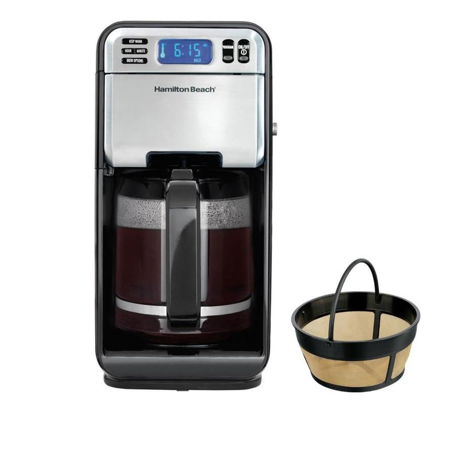 Hamilton Beach 12 Cup Digital Automatic Lcd Coffeemaker Brewer And Coffee Filter 46205 80675r In 2020 Coffee Maker Best Coffee Grinder Single Cup Coffee Maker