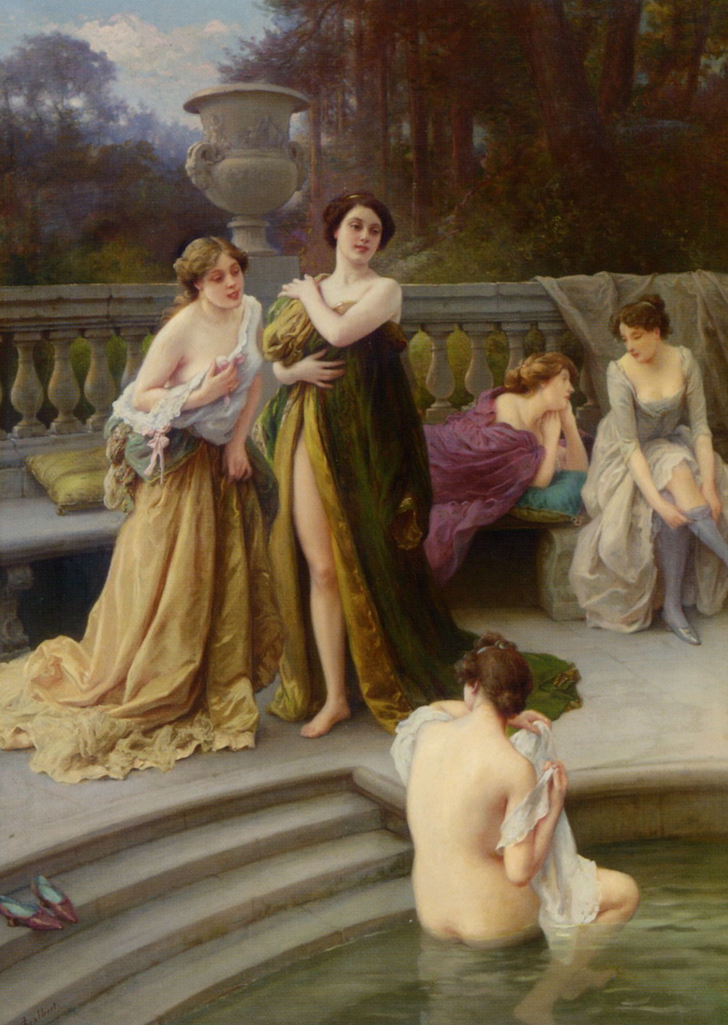 A Midday Bath by Jules Scalbert - 336.4KB