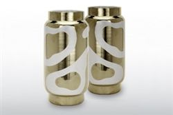 zhush up your table! Waylande Gregory Platinum and White Lava Salt & Pepper Shakers