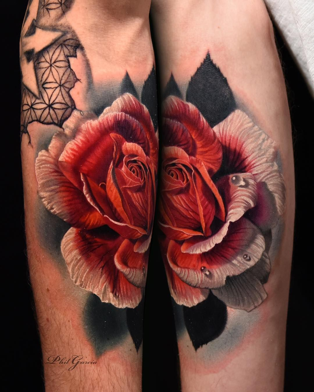 171d772a2 '@eight_thirty_eight_gallery #eightthirtyeightgallery #porthueneme #805 Phil  Garcia, Rose Tattoos, Red