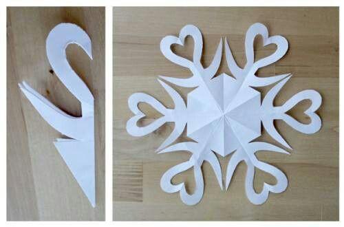 Fiocchi Di Neve Di Carta Modelli : Stella di carta scuola carta natale e fiocchi di neve