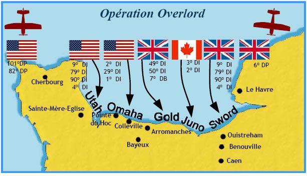 plage du débarquement normandie carte Carte Débarquement 6 juin 1944 (avec images) | Plage de normandie