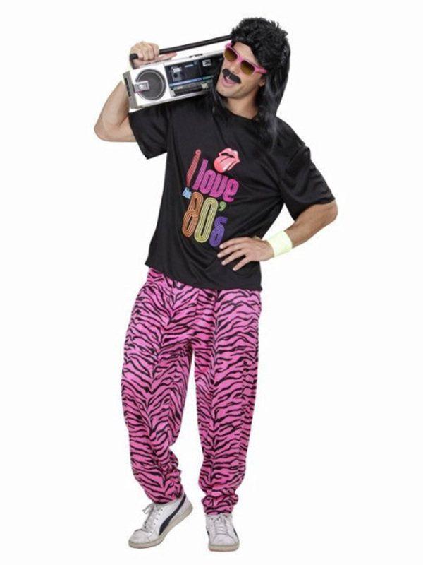 80er jahre kost m disco schwarz pink 80er jahre kost m. Black Bedroom Furniture Sets. Home Design Ideas