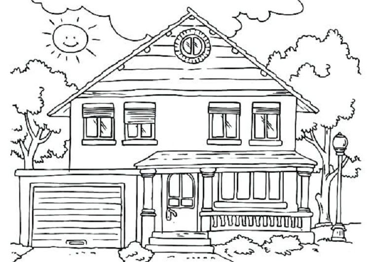 Full House Coloring Pages Coloring Pages For Kids House
