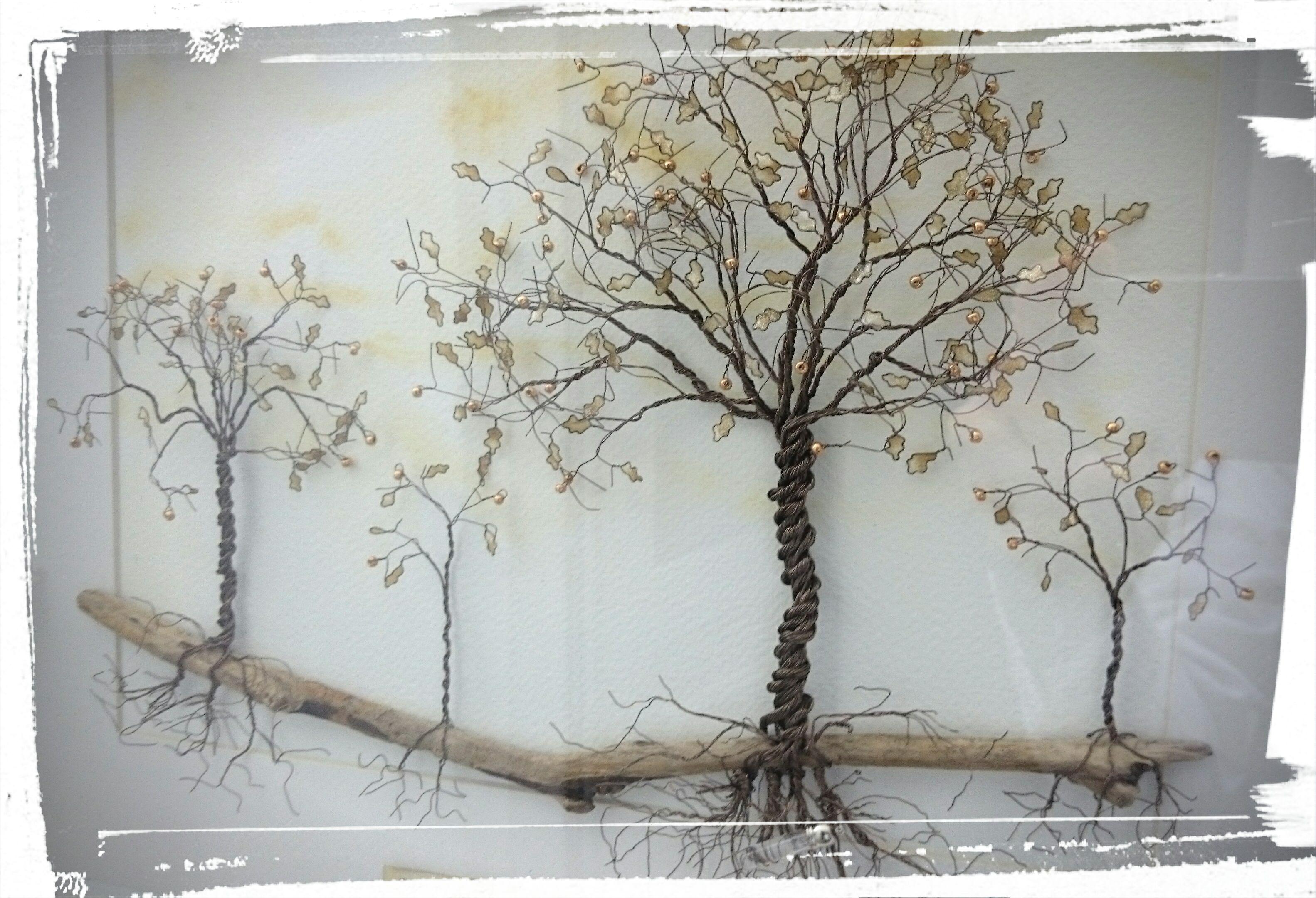 Wire Art: \'The Oak Grove\'   Trees   Pinterest   Wire art, Wire trees ...