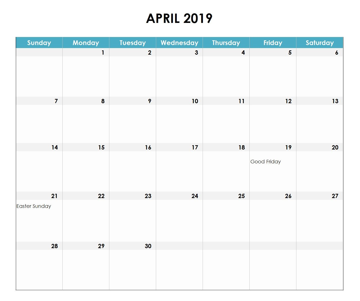 2019 Excel Calendar Excel Calendar Calendar Australia Excel