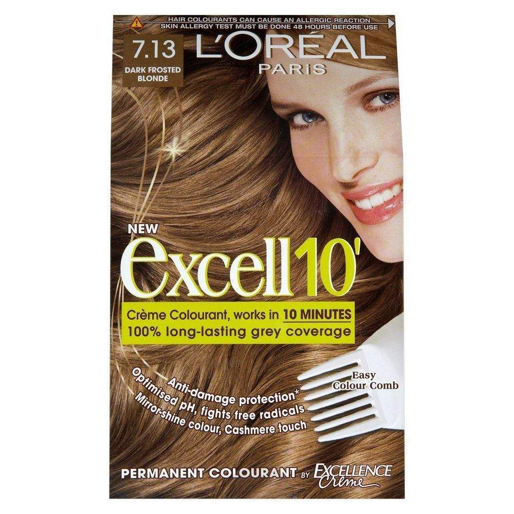L Oreal Paris Excell 10 Hair Colourant Dark Frosted Blonde 7 13 You Can Get More Details By Clicking On The Image Loreal Paris Loreal Hair