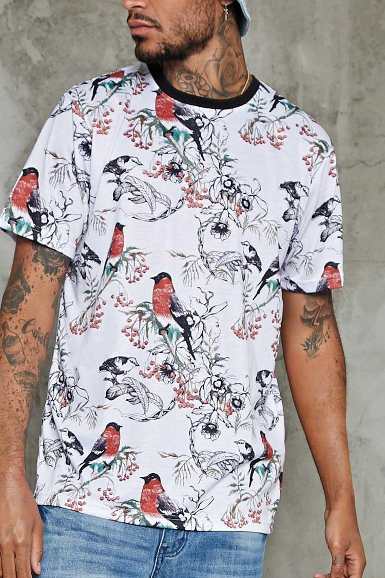 Bird Floral Print Tee